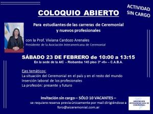 COLOQUIO ABIERTO 2019
