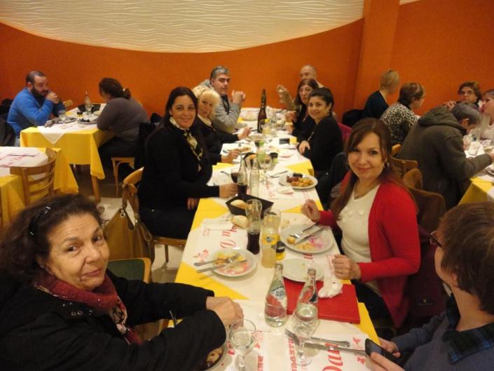 cena informal al cierre