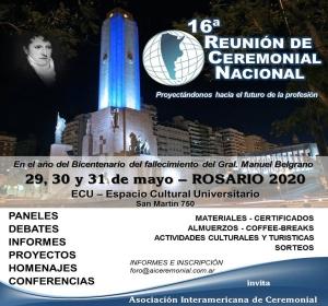 16° REUNIÓN DE CEREMONIAL NACIONAL INFORMACIÓN
